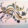 Le papillon et les roses Dessin / encres de chine. Mariraff