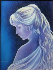Jeune fille en bleu.