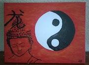 Bouddha ying yang vierge.