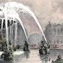 Fontaine Place de la Concorde Paris. La Brige