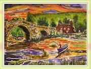 Partie de pêche près du pont.