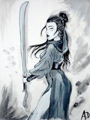 Guerrière chinoise. Aurore Dirand