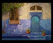 La porte bleue.