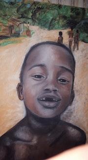 Enfant guyanais de Maripassoula Guyane 1997.