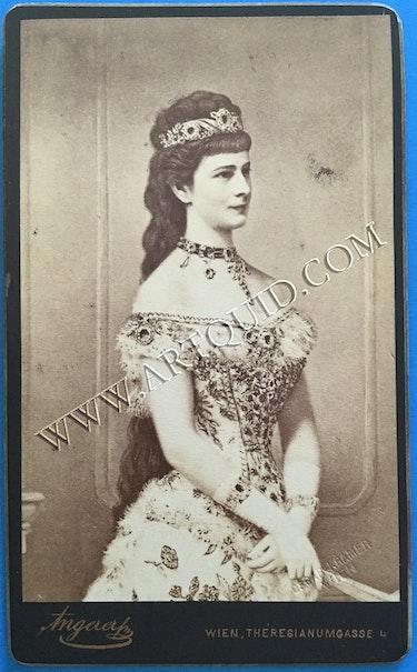 Cdv Kaiserin Elisabeth «Sisi» von Österreich-Ungarn, 19. Jhdt. , Original!. Thomas Kern
