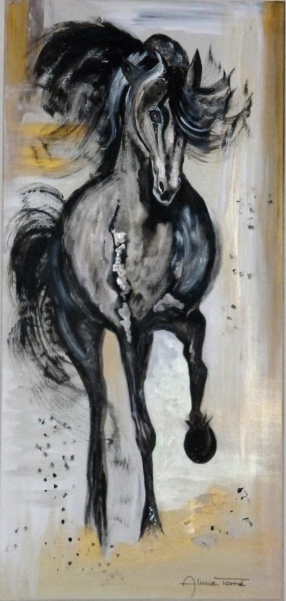L'étalon noir. Anne-Lucie Tarrie Altarrié