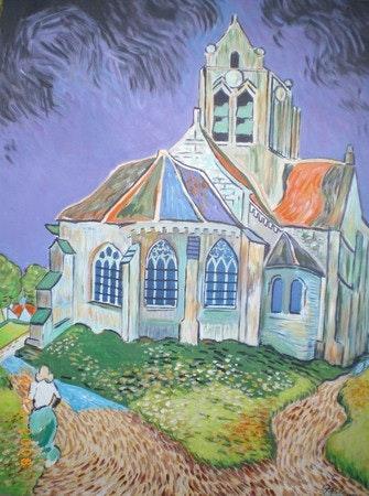 Eglise d'auvers sur oise.  Pierre Adolle