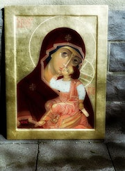 Mother of God with baby Jesus. Tania Kant Krosse