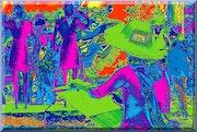 Color Design - Farbumkehrung II / kaleidoskopisch verfremdet.