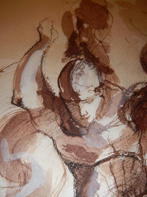 Extrait de combat de St Michel et le dragon d'après Rubens. Mylene Caïe- Bertin Mylène Caïe-Bertin