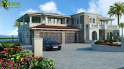 Luxurious Home Exterior Design Rendering.