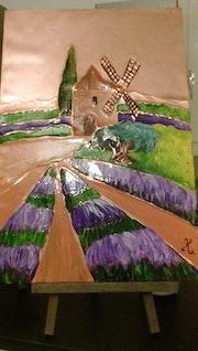 Un moulin en Provence.