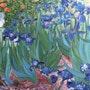 Les iris d'après van gogh. Pierre Adolle
