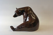 Seated Brown Bear  Birds and Animals. Jonathan Knight Sculpture