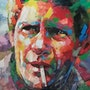 Steve McQUEEN-PAINTING on canvas original with certificat. T. Me. S