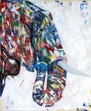 «Apu» peinture éléphant.