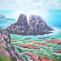 La mer du Finistère (d'après Henri moret). Pierre Adolle