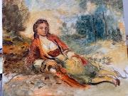 Jeune Berbère d'après Renoir.