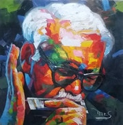 Toots thielemans - peinture realiser par- Tony Messina.