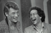 Johnny Hallyday et Michel Berger. André