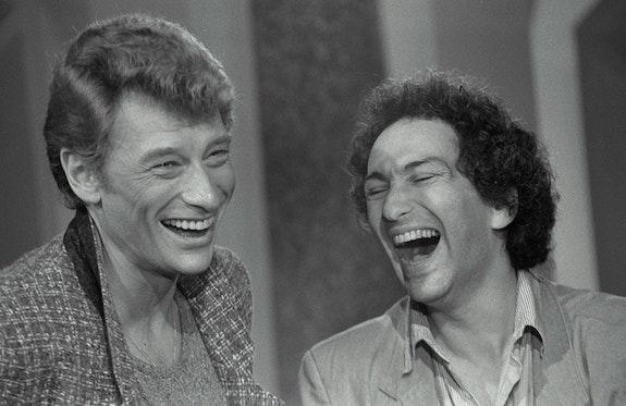 Johnny Hallyday et Michel Berger. Cotonnet André André