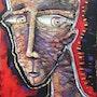 De reojo, high relief, mix media on canvas.. Gastón Charó Art Gallery