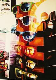 Lunettes dans une vitrine. Gilbert Verani