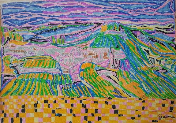 Montagne cultivée. Jérôme Pezzillo Galerie Les Echappées De L'Art – Galerie Parisienne