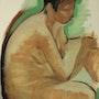 Petit nu féminin assis. Galerie Les Echappées De L'Art – Galerie Parisienne