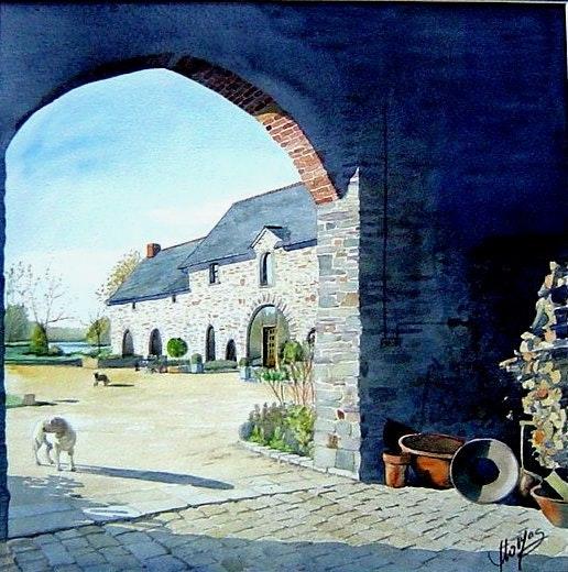 Le porche. D Thomas Dominique Thomas