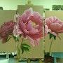 Les pivoines roses de Fabienne. Mia L