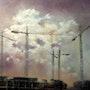 Sky and cranes. Tomas Castaño