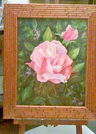 Rose de juin / gouache sur papier aquarelle. Marie-Hélène Ducoudray Mariraff