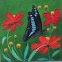 Une petite pose papillon.. Ghislaine Phelut
