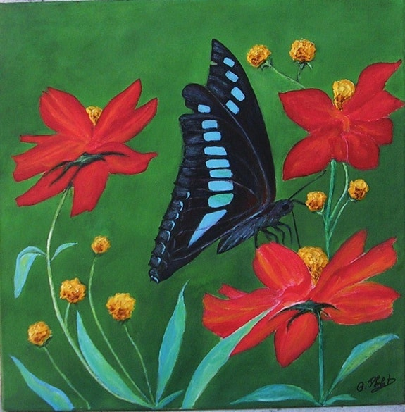 Une petite pose papillon.. Ghislaine Phelut-Sanchez Ghislaine Phelut