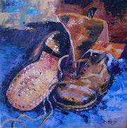 Chaussures usées. Vidal Michelle