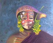 Jeune de la tribu des omo.