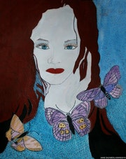 The young lady with the red hair and the butterflies. Anne. B