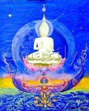 Bouddha bleu.