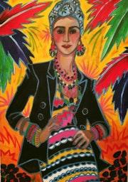 Femme perroquet.