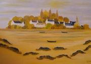 Marée basse en Bretagne.