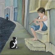 Le charmeur de chat. Marie Colin