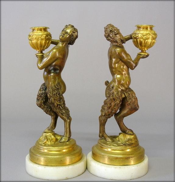 Faunes en couple.  Marc Menzoyan Antiquités
