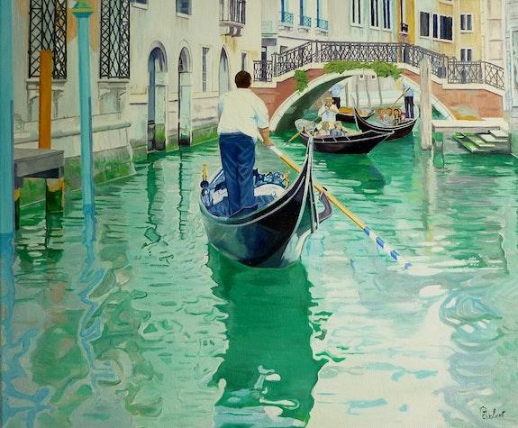 Canaux de Venise navigation intense. Robert Robert