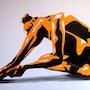 Nu jaune et noir. Christian Pacaud