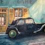 Une tracbar un soir; devant le café d'la gare; ont et dans un polar ! !. Jean Tate