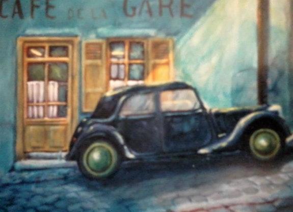Une tracbar un soir; devant le café d'la gare; ont et dans un polar ! !. Tate J-Pierre Jean Tate