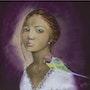 Clémentine - portrait au pastel. Katty Perdriolle