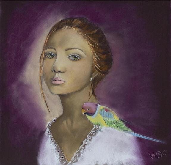 Clémentine - portrait au pastel. Katty Perdriolle Katty Perdriolle