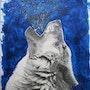 Loup hurlant. Kikib